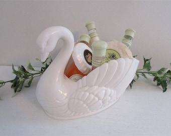 Vintage Swan, Regaline Swan, Bathroom Storage, Bathroom Decor, Swan Planter, Bathroom Planter, Guest Bathroom, Vanity Decor, Vanity Storage