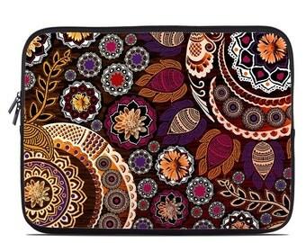 Laptop Sleeve Bag Case - Autumn Mehndi by Fusion Idol - Neoprene Padded - Fits MacBooks + More