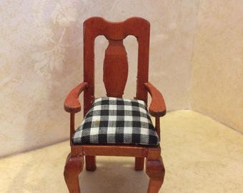 Vintage Dollhouse Furniture - Hardback Chair
