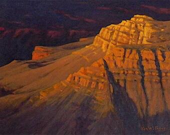 Grand Canyon - 'Sienna Light' - original landscape painting - Southwest art - western art - purples - oil - impressionist - Arizona - desert