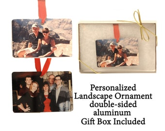 Custom Photo Ornament - Landscape Ornament - your photo turned into a unique gift - 2 sided