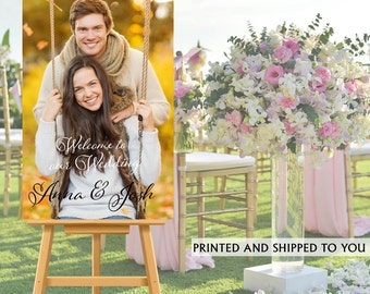 Welcome to Our Wedding Sign - Photo Wedding Sign- Reception Sign Printed Wedding Ceremony Sign