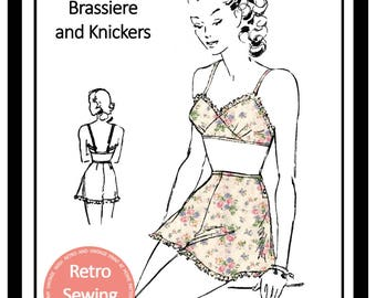 1950's Bra &  Knickers Sewing Pattern -  Paper Version