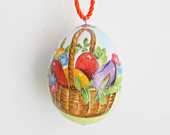 FREE SHIPPING, Handmade egg, Chicken egg shell, Easter home decorations, Easter decor, Easter flowers, Pysanka, Pysanky, Yellow, Green, Blue