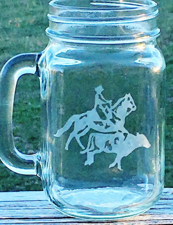 Cow Sorting Etched Drinking Glass,  Etched Glass, Horse Gift, Birthday Gift, Cowboy Gift, Cowgirl Gift