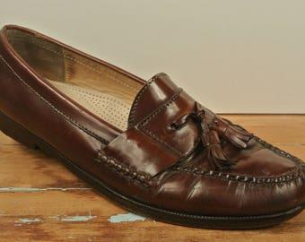 Cole Haan Brown Leather Tassel Loafer Men's Size: 10.5B