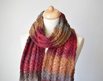 Knit Shawl Pattern, Knit Scarf Pattern, Zoey
