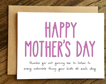 Funny Mother's Day Card - Mothers Day Card - Mother's Day Card for Friend - Adorable Things.