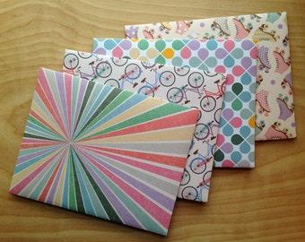 Handmade A7 Envelopes Set, Retro Recreation, Stationery