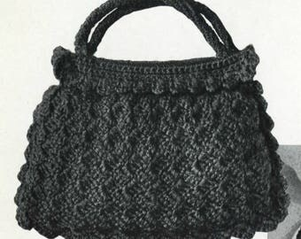 Vintage Shell Stitch Crochet Handbag Pattern PDF Digital Download