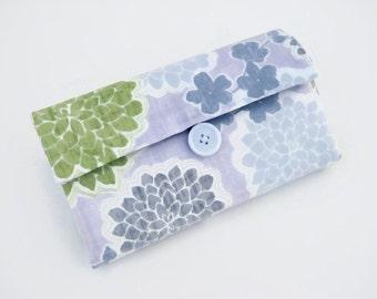 Cash Envelope Wallet | Cash Budget Wallet | Money Envelope System - Purple Floral