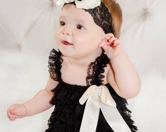 Baby Romper/Baby Girl Romper/Girl Lace Romper/Lace Romper/Baby Lace Romper/Petti Romper/Lace Romper Baby/Ooh La La Divas and Dudes Boutique