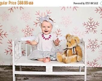 7ft x 5ft Snowflakes Photography Backdrop – Christmas Photo Background  – Item 1781