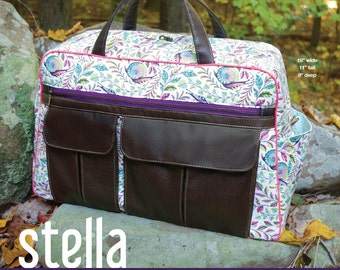 Swoon Patterns: Stella Weekender Bag - PDF Bag Purse Weekender Travel Bag Sewing Pattern
