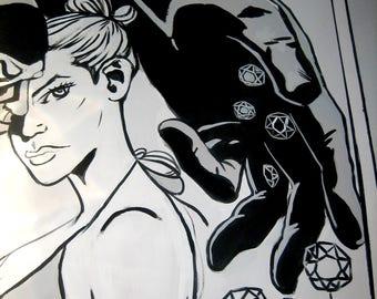 walls painted comic: tivoli castel madama, guidonia