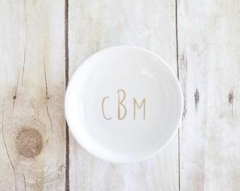 Custom Monogram Bridal Ring Dish