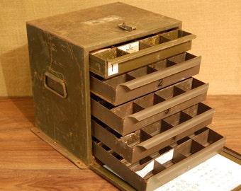 Vintage Industrial Metal Storage Cabinet, Crafting Cabinet, Parts Cabinet, Art Studio Storage