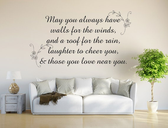 Irish Blessing Vinyl Decal Wall Decal Custom Wall Custom Quote - Custom vinyl wall decals sayings & Irish Blessing Vinyl Decal Wall Decal Custom Wall Custom Quote ...