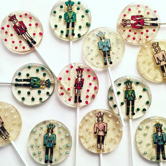 3 Glittery Christmas Nutcracker Lollipops