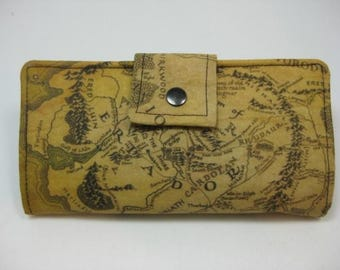 Lord Of The Rings Wallet. Handmade Womens Wallet,  BiFold Clutch