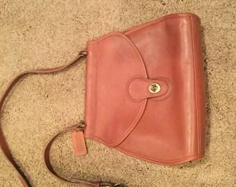 Vintage Coach Bonnie Cashin Brown Leather Crossbody Messenger Turnlock Handbag #229 USA