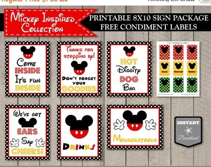 SALE INSTANT DOWNLOAD Mouse Classic Birthday Party Sign Package / Printable Diy / Mouse Classic Collection / Item #1502