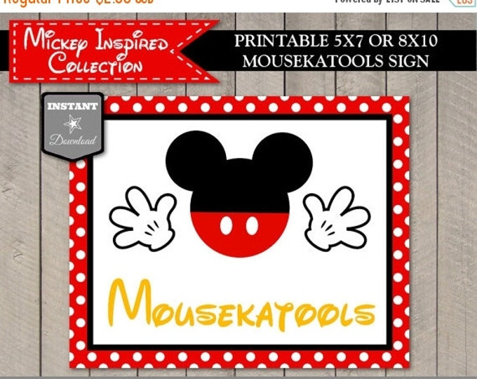 SALE INSTANT DOWNLOAD Mouse Classic Printable Mousekatools Sign / 5x7 or 8x10/ Birthday / Baby Shower / Classic Mouse Collection / Item #150