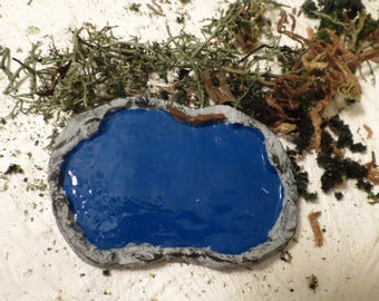 Ho Scale/ Model Train small pond -doll house diorama Painted Blue or unpainted Model train dollhouse diorama miniatures