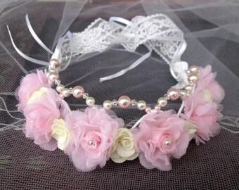 Hair wreath wreath of flowers wedding, Bridal flower Crown, wedding wreath, wreath flowers