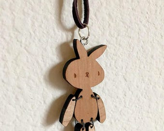 Bunny Wooden Necklace