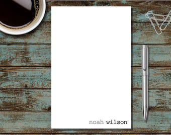 Personalized Stationary, Personalized Notepad, Monogram Stationary, Professional Notepad, Thank You Note, Correspondence, SS4 Notepad