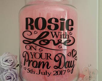 Personalised Sticker Label for Prom Day/Night to Label Candle/Jar/Memory Box/Tin/Photo Album/Frame Daughter Granddaughter Niece Gift/Present
