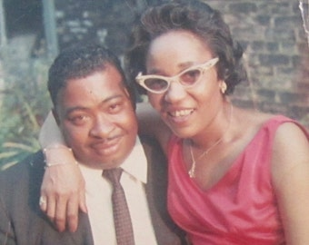 Me And My Man - Original 1960's Young Black African American Couple Photo - Free Shipping