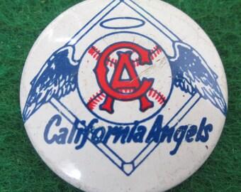 Original 1960s California Angels MLB Baseball Pin Pinback Button - Free Shipping