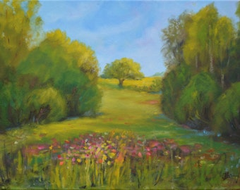 Original Oil Painting on Canvas. Landscape Painting.  Wall Art. Contemporary Fine Art