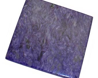 """Charoite slab 2.4"""" x 2.25"""" x 0.20"""" Rare and beautiful display piece! - CHA010"""