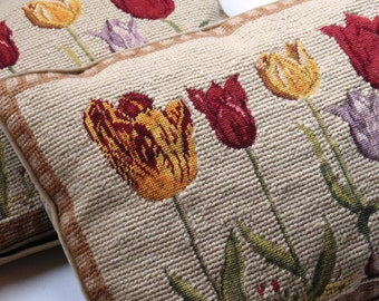 Vintage Tulip Tapestry Cushions