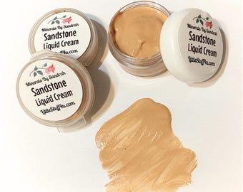 SANDSTONE Liquid Cream Mineral Foundation -  Gluten Free Vegan Makeup -