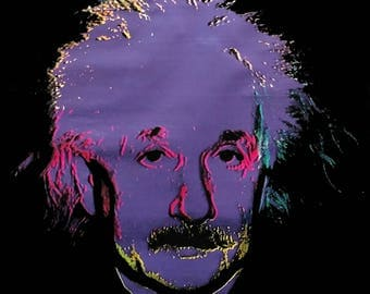 "Steve Kaufman ""Einstein"" - Rare Signed Hand Embellished Canvas - COA - See Live at GallArt"