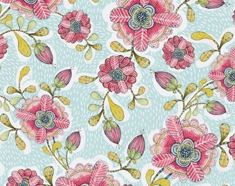 Happy Blossoms in Blue by Cori Dantini from the Hello World collection for Blend