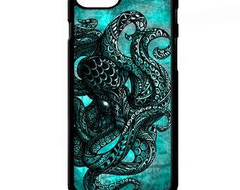 Octopus squid nautical sailor vintage retro sailing sea creature pattern graphic cover for iphone 4 4s 5 5s 5c 6 6s 7 plus SE phone case