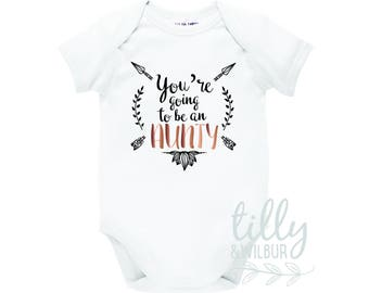 You're Going To Be An Aunty Pregnancy Announcement Bodysuit, Auntie Announcement, Aunt Reveal, Boho Chic Baby Design, Made In Australia