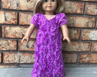 Pretty Purple / Fuschia Party Dress Fits an 18 inch American Girl Sized Doll