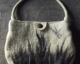 "Hand-felted bag/purse ""Sedge"""