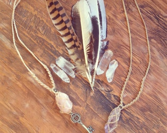raw amethyst healing and protection necklace empowering crown chakra