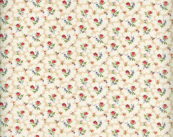 Fabric Freedom 'Reduced Price' F899-1 English Teatime Rosebud Patchwork Quilting