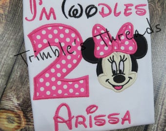 Twodles Birthday Shirt / Minnie Mouse 2nd Birthday Shirt / Minnie Birthday / Personalized / Girl