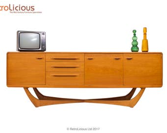 Beithcraft RARE Teak Sideboard Drinks Cabinet Eames G Plan Era Retro