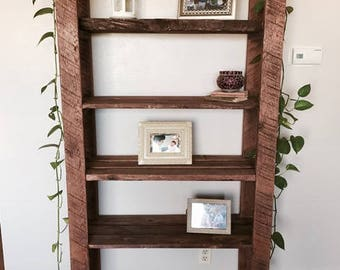Reclaimed Rustic Bookshelf