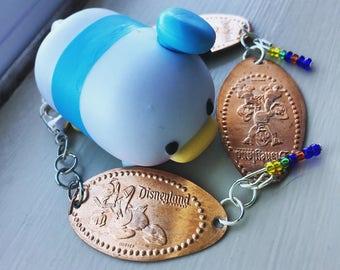 Donald Duck & Family Pressed Penny Bracelet- Disneyland